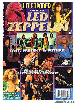 Hit Parader, February 1995: Magazine Covers, February 1995, Mag Covers, Led Zeppelin, Mighty Led, Lz Mag, Parader Magazine