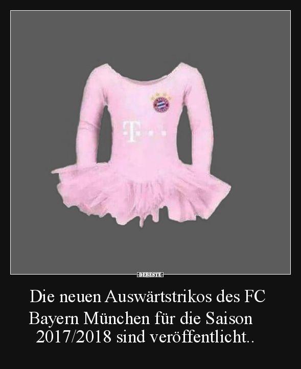 Die neuen Auswärtstrikos des FC Bayern München..   Lustige Bilder, Sprüche, Witze, echt lustig