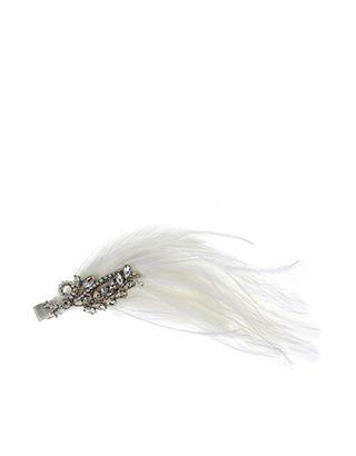 Bethany Bridal Feather Hair Clip 23.50 €