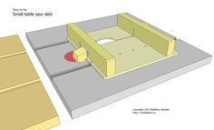 Small table saw sled plans