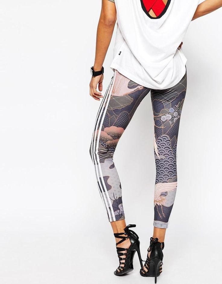 Shop adidas Originals Rita Ora 3 Stripe Leggings With Elegant Print at ASOS.
