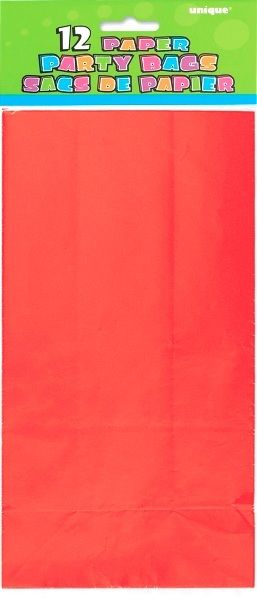 Red Paper Party Loot Bags | Paper Party Bags | Party Decorations and Supplies