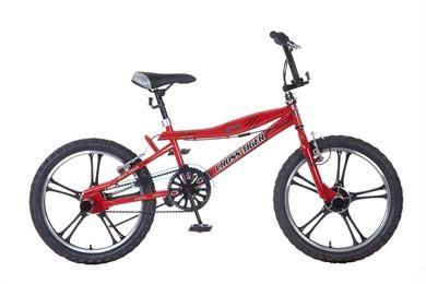 BMX crossfiets stuntfiets rood 20 inch Popal Crosstiger kinderfiets