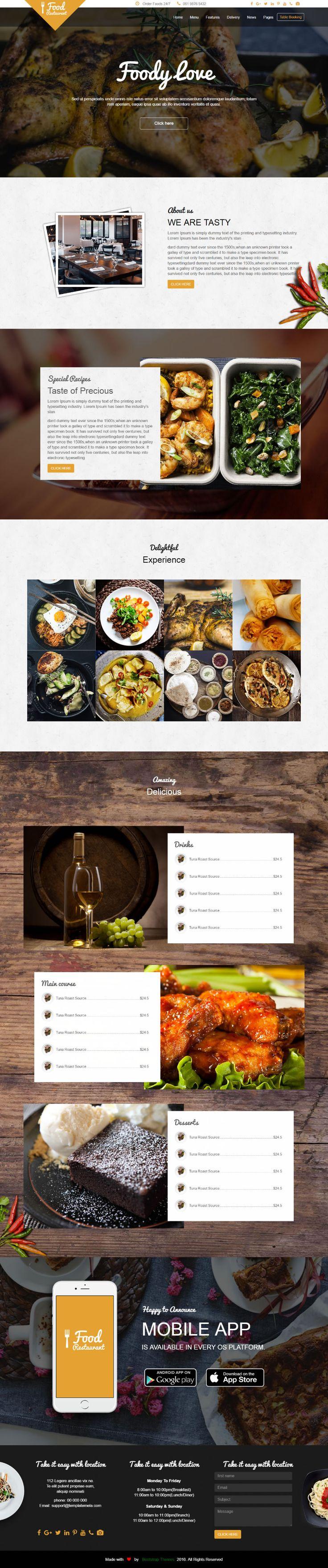 restaurant p l templates