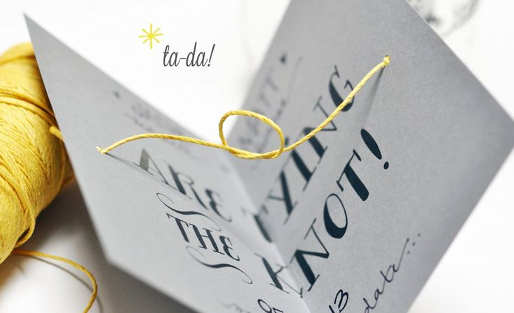 tying the knot - save the date cards