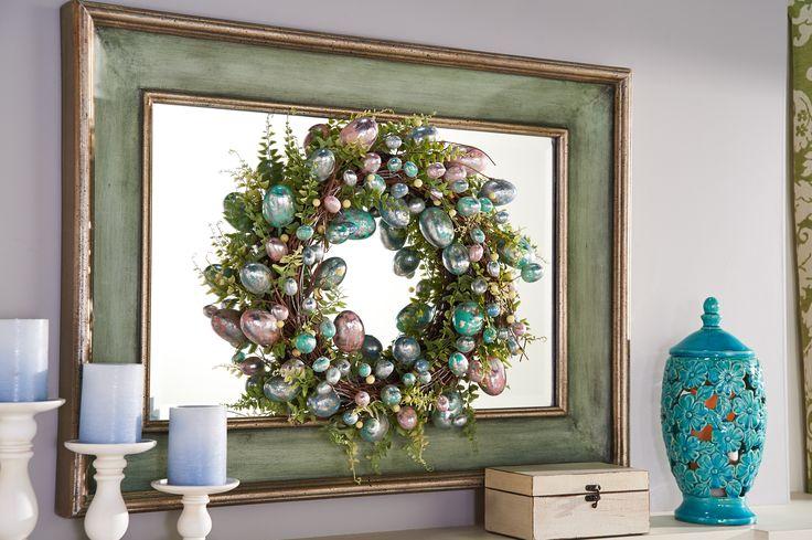 H210529 Foiled Egg Wreath http://qvc.co/-Shop-ValerieParrHill
