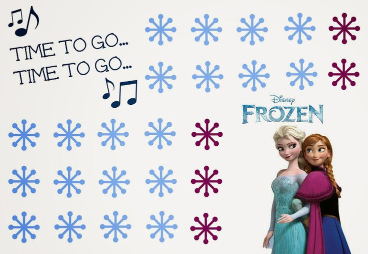 "Free Printable Disney Frozen Potty Chart with Elsa and Anna. ""Time to Go... Time to Go..."" #PUBigKid #ad"