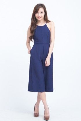 LEONIE CULLOTES JUMPSUIT (NAVY BLUE)