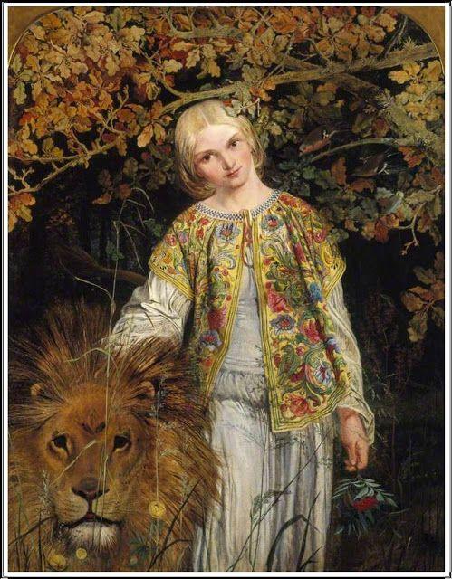 William Bell Scott (1811-1890), Una & the Lion - 1860
