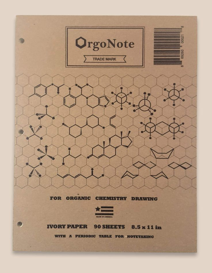 Loose-Leaf Paper for Organic Chemistry Drawing