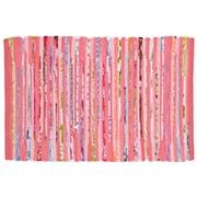 Kids' Rugs: Kids Pink Recycled Cotton Rug in Patterned Rugs