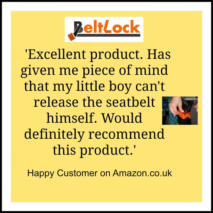 Customer Quote very happy with Beltlock