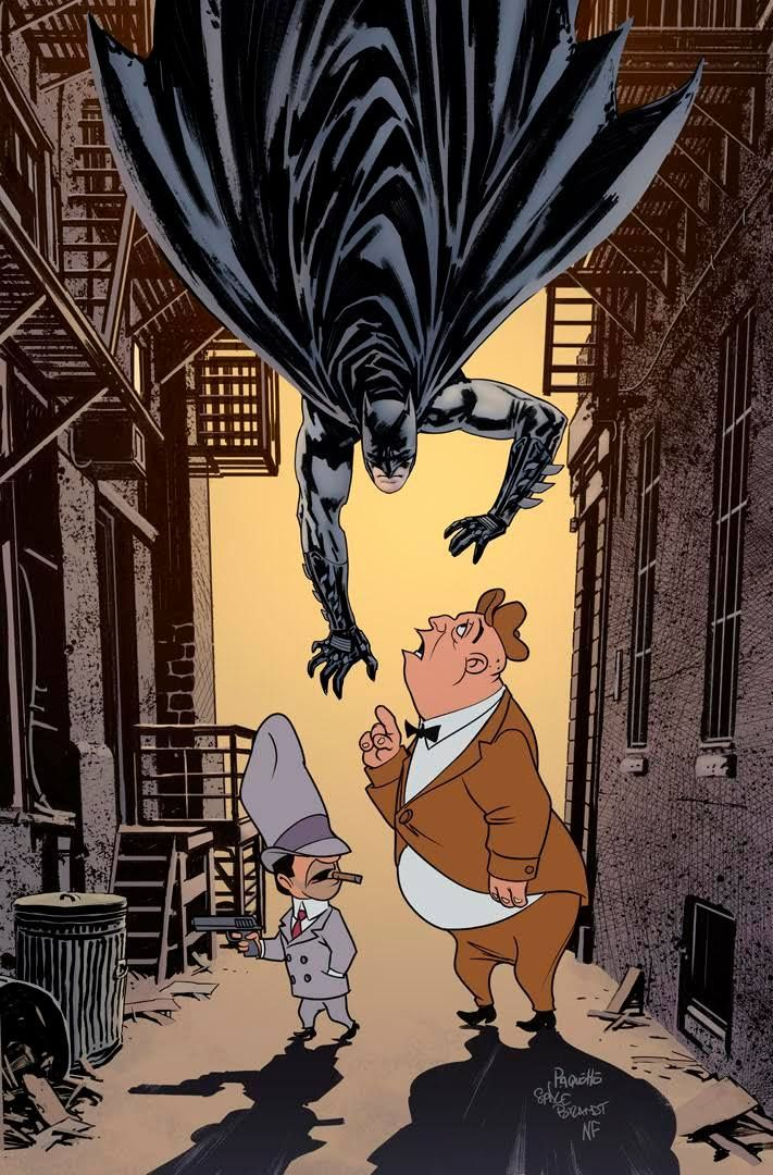 Batman #46 Looney Tunes variant cover by Yanick Paquette, Spike Brandt, and Nathan Fairbairn *