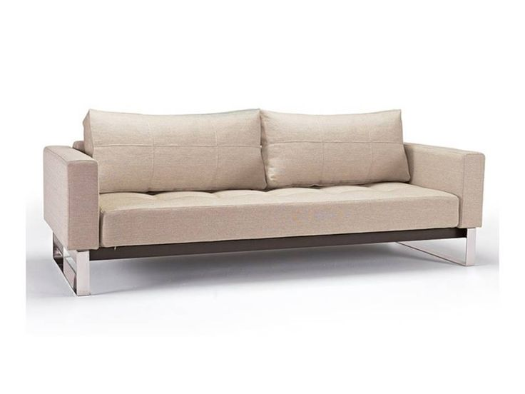Shop Superion Chrome Sofa In Cream And Other Modern Contemporary Home Office Furniture Browse Our Selection Of Sleepers From Zuri