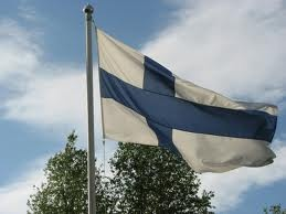 Midsummerday is also the Day of the Finnish Flag. The flag is hoisted at 6 pm on Midsummer eve and flown all night till 9 pm the following evening. (Wikipedia)