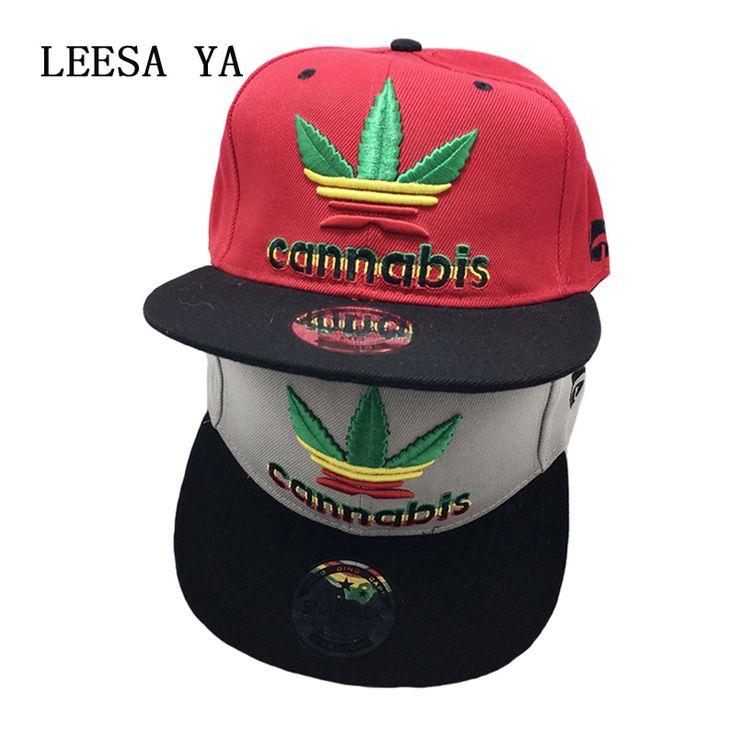 New Hemp Leaf Fashion Hip Hop Adjustable Snapback Hat For Men //Price: $18.78 & FREE Shipping //     #cannabis