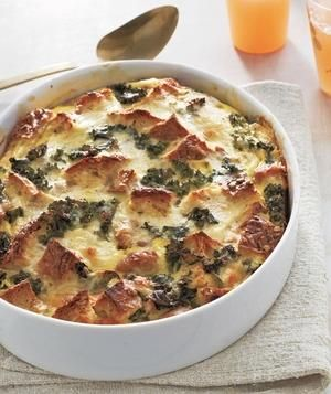Sausage, Egg, and Kale Strata recipe