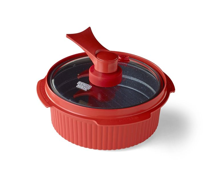 "Range Mate Pro Nonstick Microwave Grill Pot/Pan Rapid Cooker ""As Seen On TV"" (Grill, Bake, Roast, Saute, Steam, Poach, & One Pot Meals)"