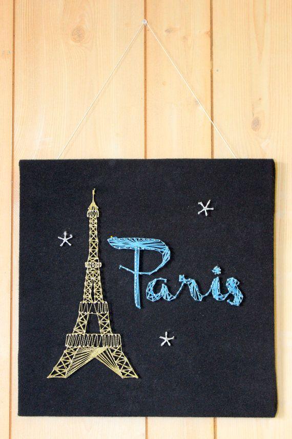 Paris Eiffel Tower String Art by EverySeasonBySaraMae on Etsy, $45.00