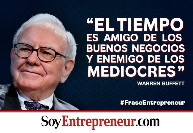 ¡Warren Buffett is in the house! Esta semana, el multimillonario abrió su cuenta en twitter, ganando mil seguidores por minuto en promedio. Compartimos esta GRAN frase de este GRAN empresario.
