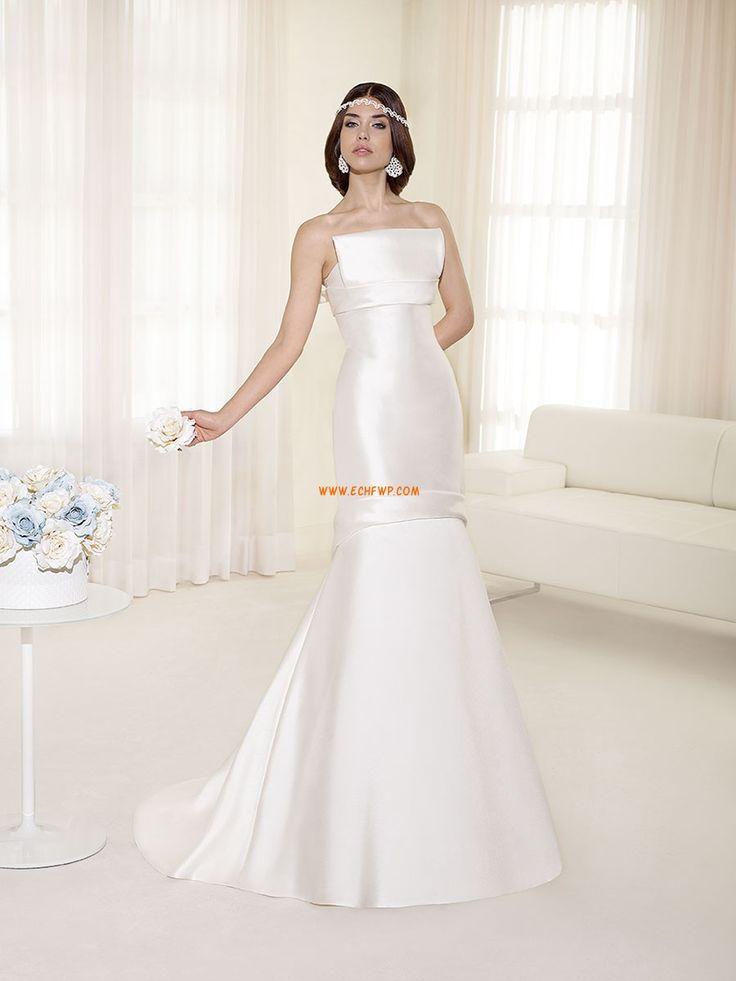 trägerloser Ausschnitt Chiffon 3/4 Arm Brautkleider 2014