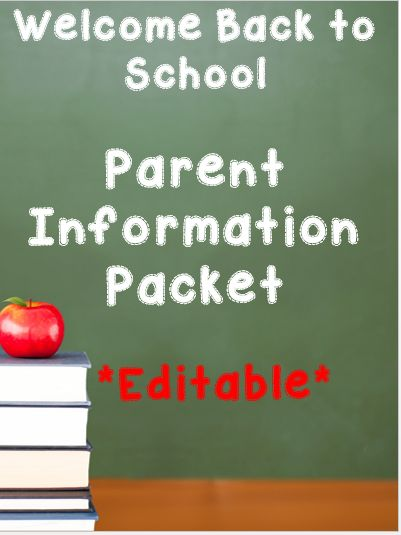 Need to send home information for the new school year? This EDITABLE back to school information packet is perfect! Just type in your text and hit print!