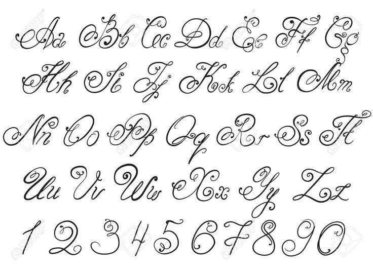 каллиграфический английский алфавит - Поиск в Google