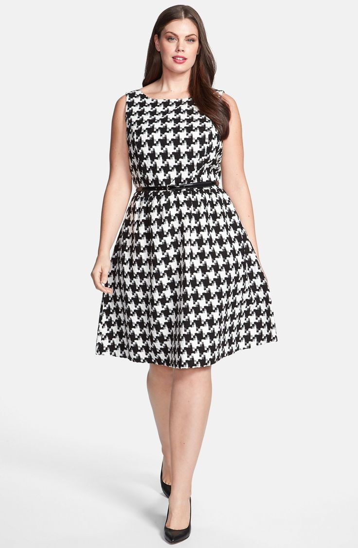 Jessica Simpson Houndstooth Dress (Plus Size) | Nordstrom
