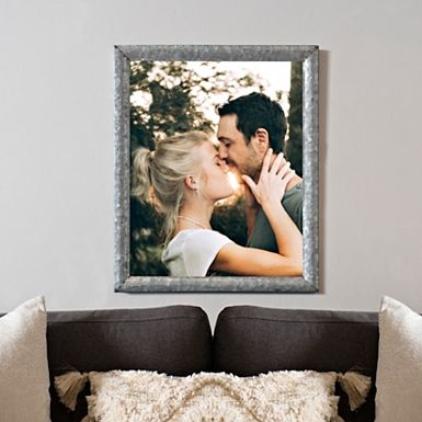 Galvanized Metal Picture Frame, 16x20