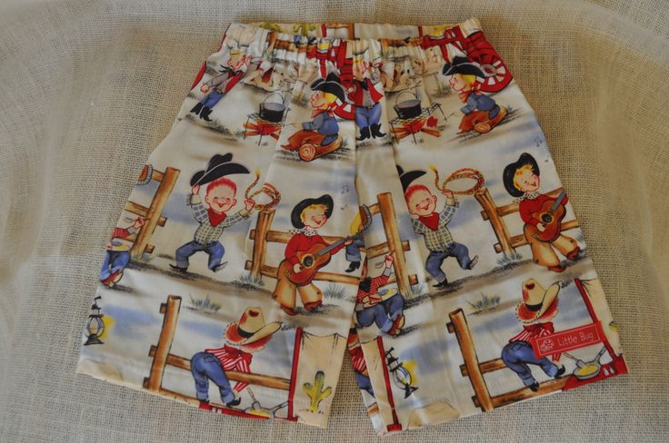 Cowboys Shorts Sizes 6-12 months, 1-2 years, 3-4 years & 5-6 years