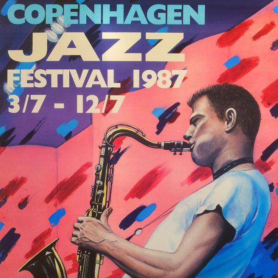 1987 Copenhagen Jazz Festival  Original Vintage by OutofCopenhagen