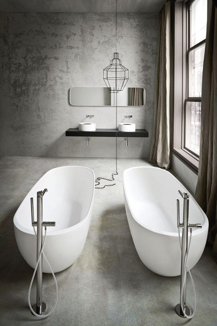 Freestanding oval Korakril™ #bathtub HOLE by Rexa Design | #design Susanna Mandelli #bathroom #minimal