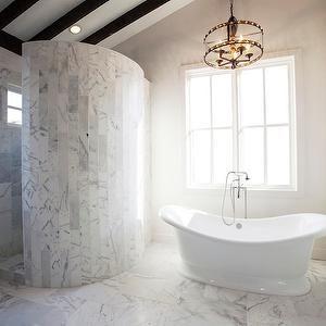 Southern Living Bathrooms Master Bath Master Bathroom Marble Bathroom Sloped Ceiling Spa Like