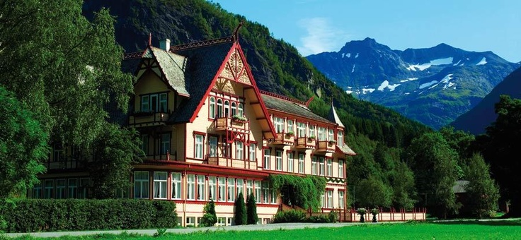 Hotel Union Øye, Norway. Ideal place to stay near the fjords.
