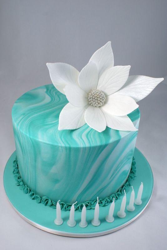 Most amazing turquoise cake from the fabulous Cakes of Wanaka www.cakesofwanaka.co.nz