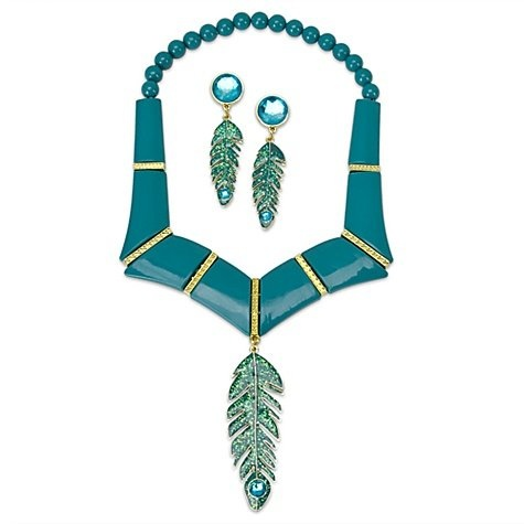 Disney Store Princess Pocahontas Jewelry Set 3 Pc. Halloween Costume Accessories with Necklace and Earrings