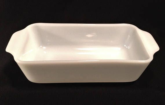 Fire King Milk Glass Loaf Pan Vintage Fire King Casserole