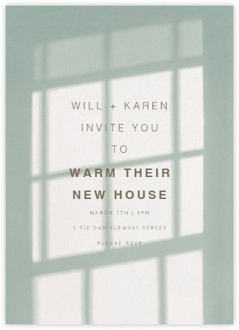 Housewarming party invitations - online and paper - Paperless Post