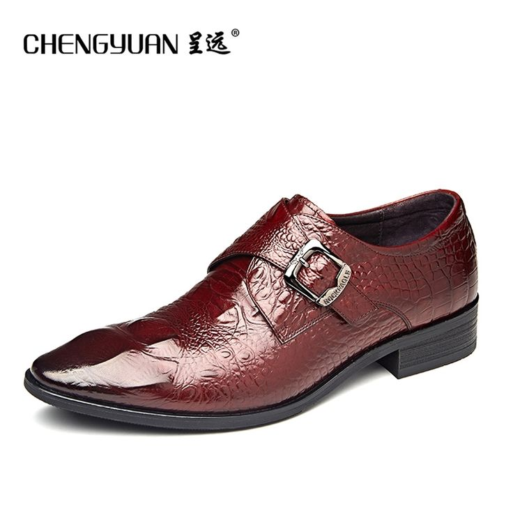 69.08$  Buy now - http://ali7ka.shopchina.info/go.php?t=32796643096 - mens business dress leather shoes buckle point toe men flat brown black leather wedding gentleman shoes CHENGYUAN 69.08$ #buyonlinewebsite