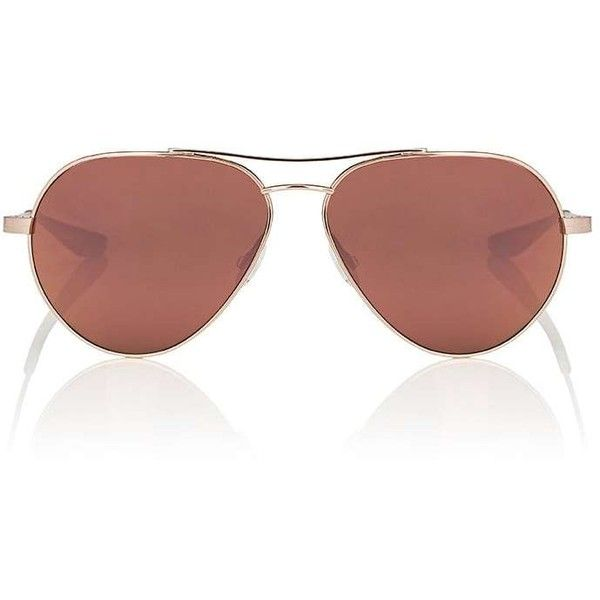 Barton Perreira Women's Commodore Sunglasses (140 KWD) ❤ liked on Polyvore featuring accessories, eyewear, sunglasses, pink aviator sunglasses, barton perreira sunglasses, mirror lens sunglasses, clear pink sunglasses and military sunglasses
