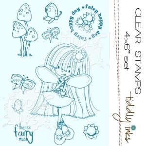 Tiddly Inks THANKS FAIRY MUCH Clear Stamps TI043