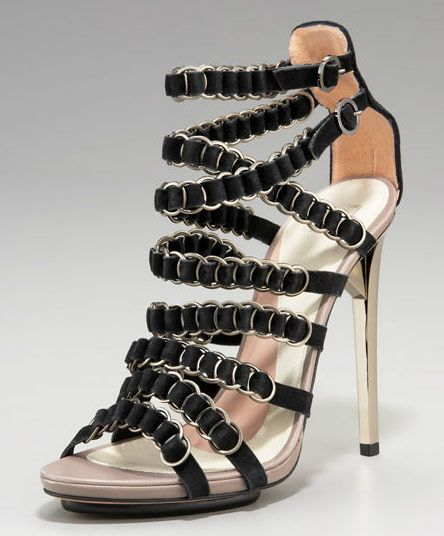 Herve Leger: Rings Sandals, Leger Su, Herve Leger, Woman Shoes, Strappy Heels, Shoes Sandals, High Heels, Leger Shoes, Woman Sandals