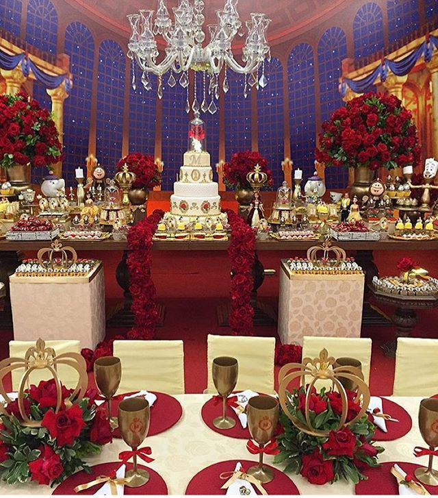 Inspiration. Red and Gold decor.