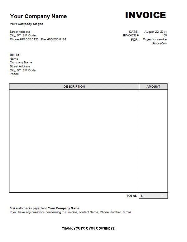 It Invoice Template Preview Invoice Template As Picture Free - Free simple invoice template