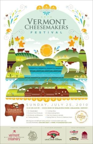2010 Vermont Cheesemakers' Festival Poster. Illustrator — Amy Ruppel by Maiden11976