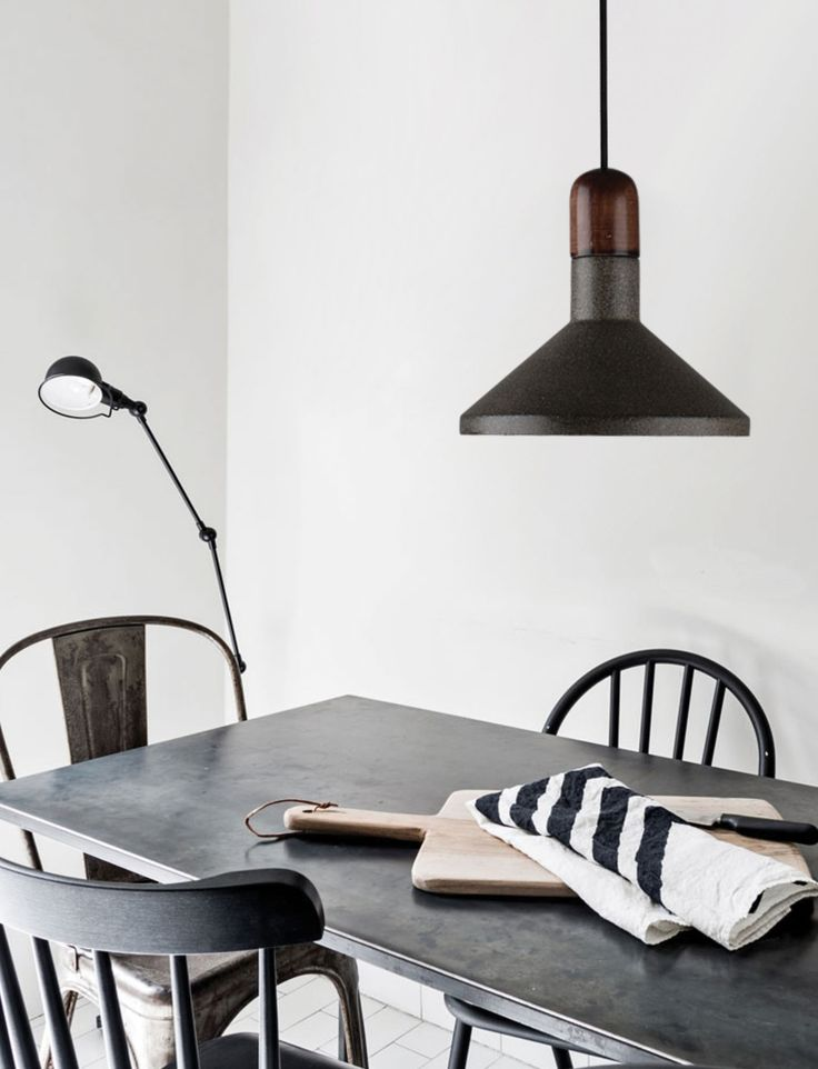 The natural material compositions of the crompton emmett pendant is perfect for either modern or traditional