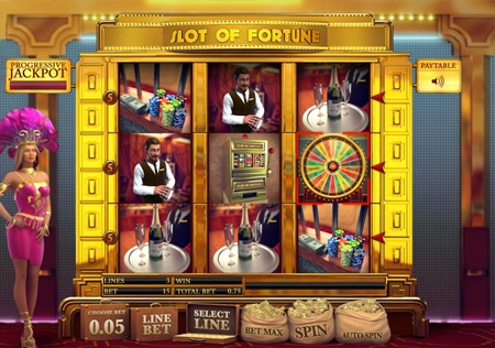 Enjoy one of the most successful and famous game shows ever shown on American television in the form of this new slot from Castle Casino. The game translates the original game into a simple 3 reel and 3 payline versions for you to enjoy. Along with some amazing graphics and great bonus rounds, you really can't go wrong with this entertaining game!    Want to spin the Slot of Fortune? Register with Castle Casino today and you'll be welcomed into the game by the showgirls!
