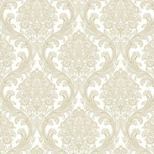 dramatic damask iridescent silver amp gold wallpaper � d