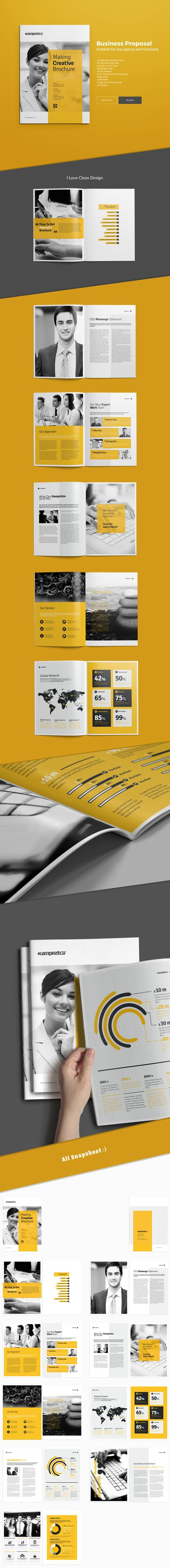 Business Brochure Tempalte suitable for any company22 pages, a4, brochure, business, clean, corporate, corporate brochure, customisable, customize, design, format, free fonts, gray, green, indesign, letter, logo, modern, PDF file, porftolio, print, pr…: