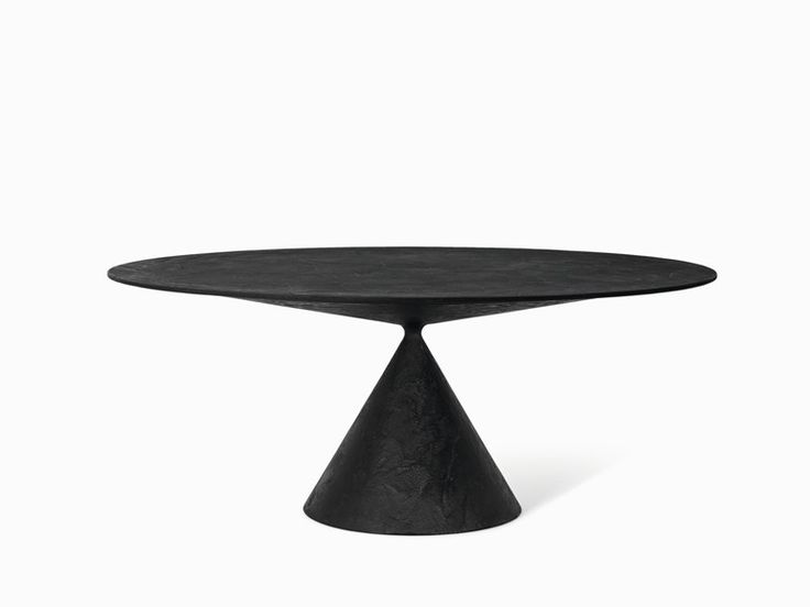 Desalto CLAY Stone Table, also in lacquered white or rough, indoor/outdoor